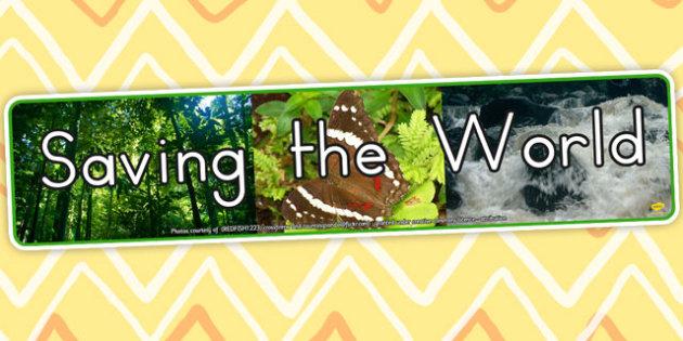 Saving the World IPC Photo Display Banner - displays, photos