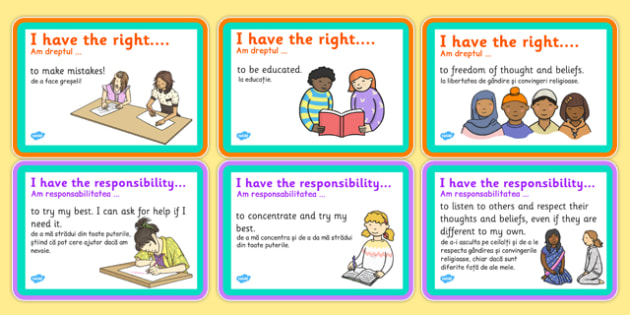My Rights and Responsibilities Romanian Translation - romanian, my rights, responsibilities, rights