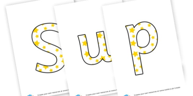 Super Star Learning - display lettering - Display Lettering Primary Resources, cut out, letters, display