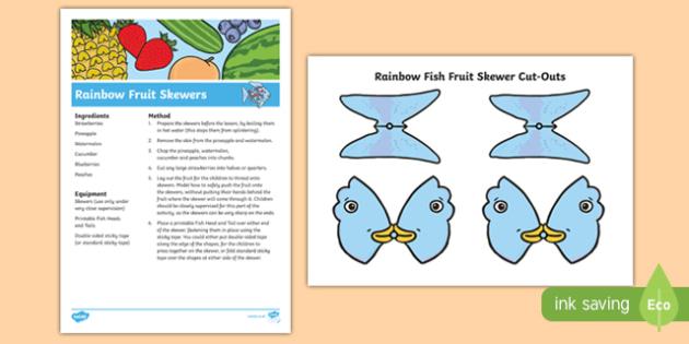 Rainbow Fish Fruit Skewers Recipe