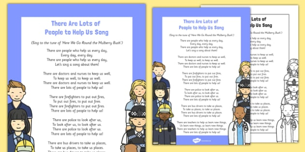 There Are Lots of People to Help Us Song