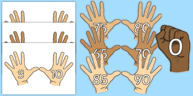 Counting in 5s (on Hands) - Counting, Numberline, Number line, Counting on, Counting back, even numbers, foundation stage numeracy, counting in 5s