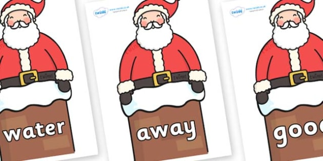 Next 200 Common Words on Santa in Chimney - Next 200 Common Words on  - DfES Letters and Sounds, Letters and Sounds, Letters and sounds words, Common words, 200 common words
