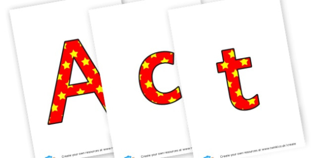 Active Learning - display lettering - Display Lettering Primary Resources, cut out, letters, display