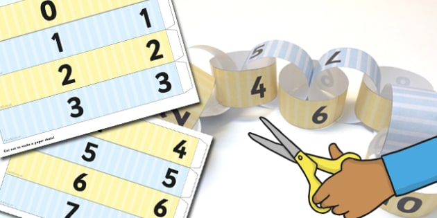 Odds and Evens Paper Chains - odd, even, maths, maths activities