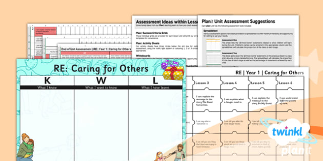 PlanIt - RE Year 1 - Caring for Others Unit Assessment Pack - planit, re, religious education, caring for others, assessment pack