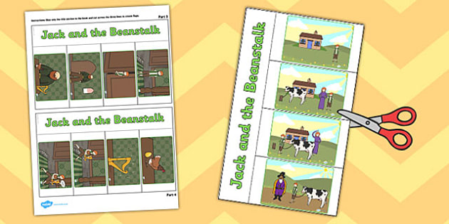 Jack and the Beanstalk Story Writing Flap Book - flap book, write