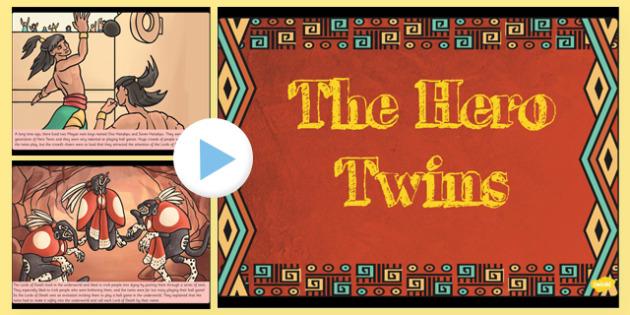 The Hero Twins Mayan Civilization Story PowerPoint - ancient maya