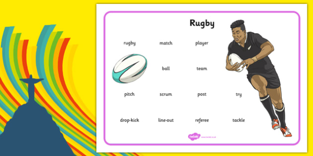 Rio 2016 Olympics Rugby Word Mat - rio olympics, 2016 olympics, rio 2016, rugby, word mat