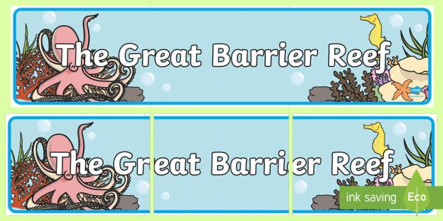 Great Barrier Reef Editable Banner for Publisher - australia