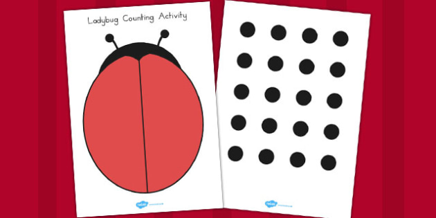 Ladybug Spot Counting Activity - ladybug, spot, counting, count