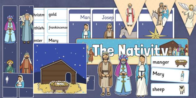 The Nativity Display Pack - nativity, christmas, display pack, pack, display