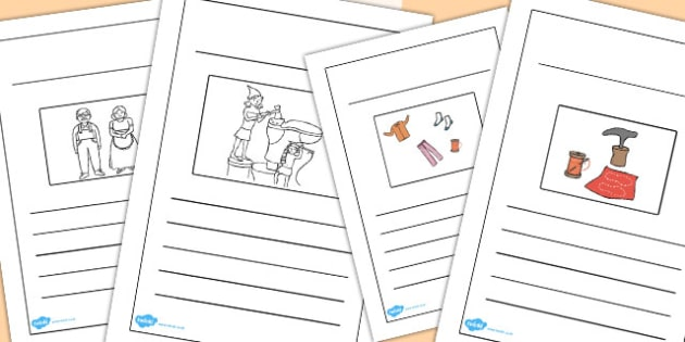 The Elves and the Shoemaker Story Writing Frames - story, writing