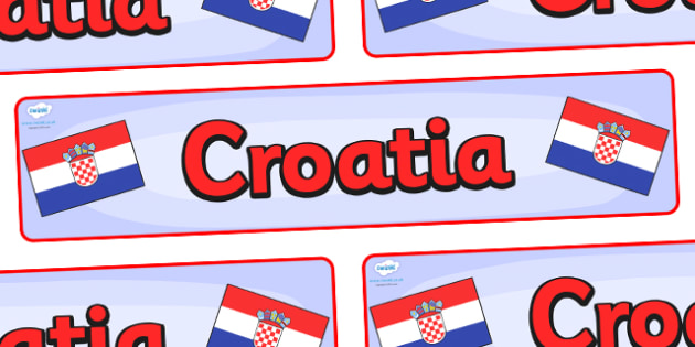 Croatia Display Banner - Croatia, Olympics, Olympic Games, sports, Olympic, London, 2012, display, banner, sign, poster, activity, Olympic torch, flag, countries, medal, Olympic Rings, mascots, flame, compete, events, tennis, athlete, swimming