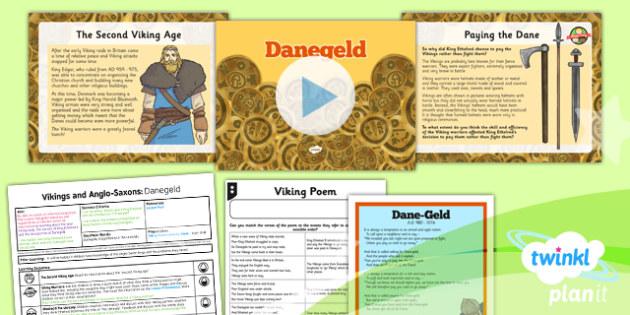 PlanIt History LKS2 Vikings Anglo-Saxons Lesson 3 Danegeld Pack