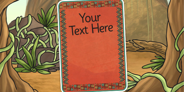 Mayan Civilization Themed Themed Editable Poster Template