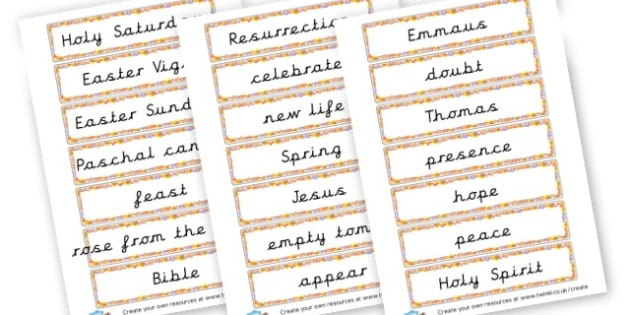 Easter Word Cards - Easter Literacy Primary Resources, easter, letter, sounds, phonics