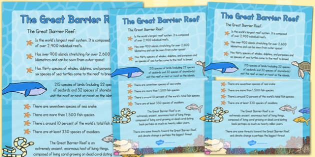 Great Barrier Reef Large Information Poster - australia, barrier