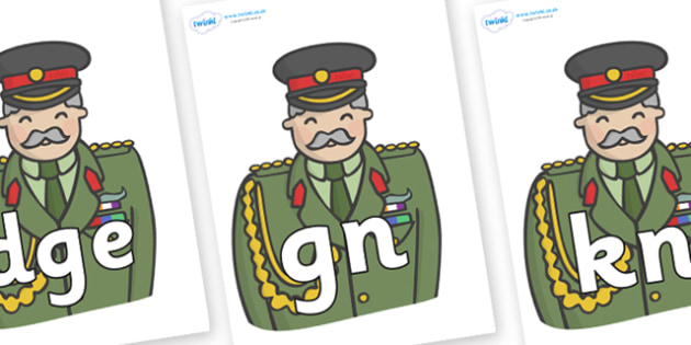 Silent Letters on Sargeants - Silent Letters, silent letter, letter blend, consonant, consonants, digraph, trigraph, A-Z letters, literacy, alphabet, letters, alternative sounds