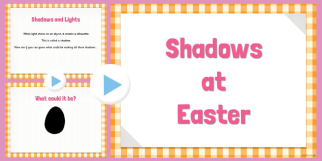 Easter Themed Shadow PowerPoint - easter, powerpoint, shadow