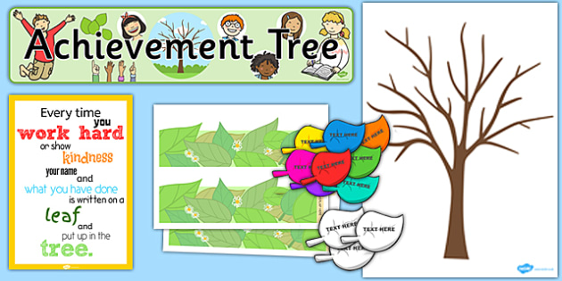 Ready Made Achievement Tree Display Pack - ready made, display