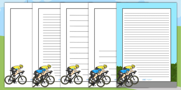 Tour de France Themed Page Borders - le tour, bicycle, sports