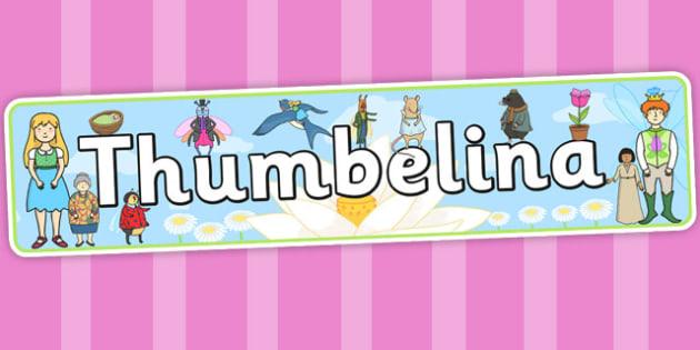 Thumbelina Display Banner - stories, story books, header, display