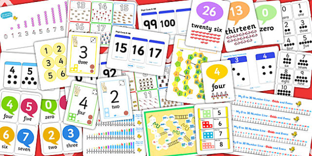 Counting Resource Pack - counting, resources, pack, numbers