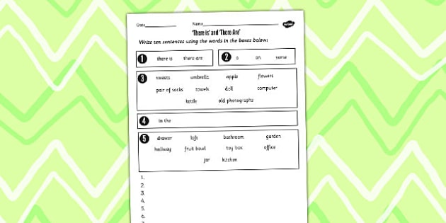 There is and There Are Worksheet - worksheet, there is, there are