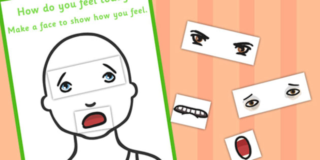 How Do You Feel Make a Face Chart - face, chart, feel, emotions