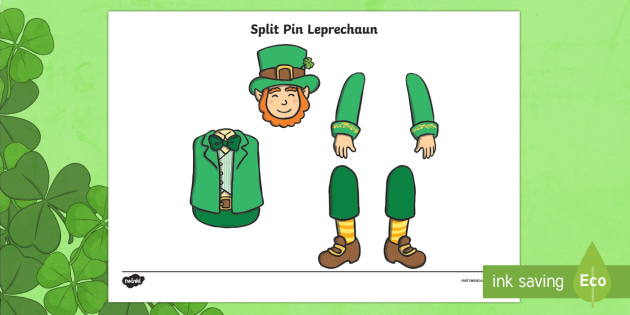 St Patrick's Day Leprechaun Split Pin Activity - KS1& 2 St Patrick's ...