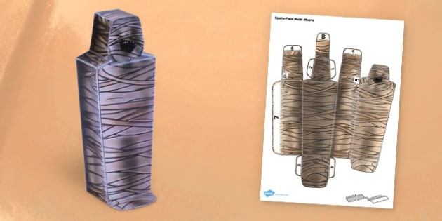 Egyptian Mummy Paper Model - paper model, egypt, mummy, craft
