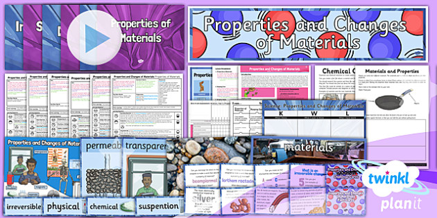 PlanIt Science Year 5 Properties And Changes Of Materials Unit Pack - all, everything, pack, kit, set, ks2, key stage, uks2, science, scientific, matter, equipment, resources, planning, displays
