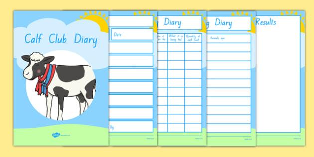 Calf Club Diary Activity Booklet