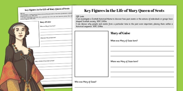 Mary of Guise - Mary Queen of Scots Key Figures Fact File - fact file, scotland