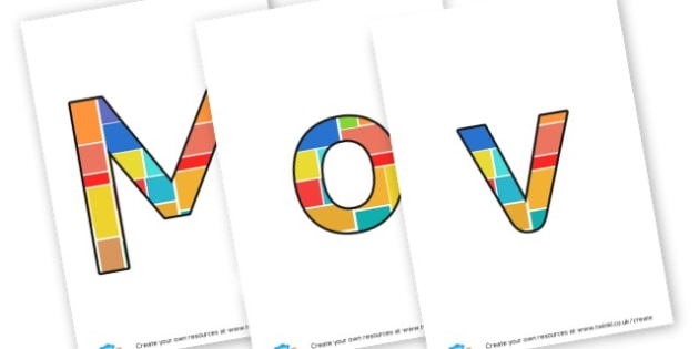 moving on - display lettering - Display Lettering Primary Resources, cut out, letters, display