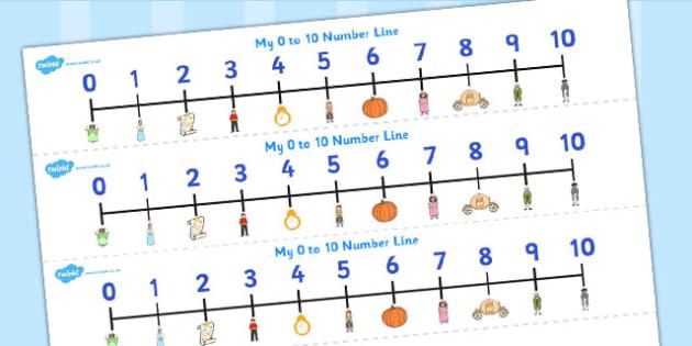 Cinderella Number Track 1-20 - cinderella, number track, 1-20