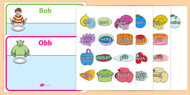 Obb and Bob Phase 3 Sorting Activity