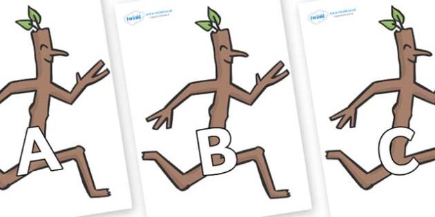 A-Z Alphabet on Stick Man to Support Teaching on Stick Man - A-Z, A4, display, Alphabet frieze, Display letters, Letter posters, A-Z letters, Alphabet flashcards