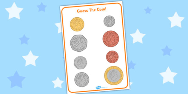 Guess the Coin Activity British (UK) - guess, coin, british