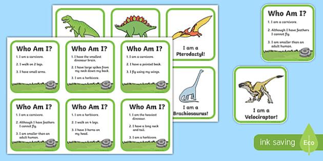 Dinosaur Information Matching Game - dinosaur, information, match, matching, game, activity