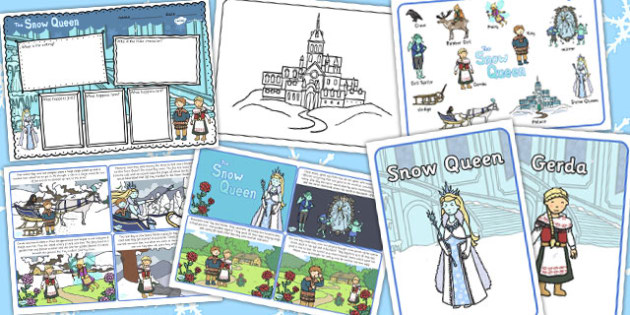 The Snow Queen Story Sack - story sack, story, pack, snow, queen