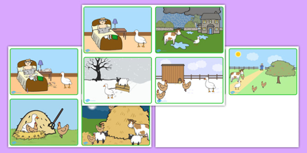 Farmer and Duck Story Sequencing Cards - farmer duck, story sequencing, story sequencing cards, story cards, story ordering, story, story ordering cards, order