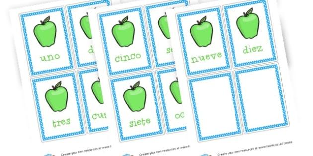 Spanish apple numbers - Spanish, Numeracy,  Primary Resources, MFL, Spanish, Spain, espag