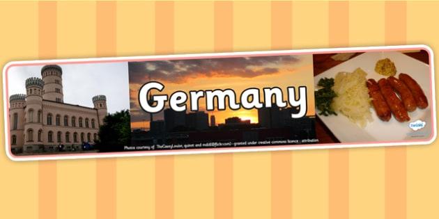 Germany Photo Display Banner - Germany, German, Display Banner, German Display Banner, German Banner, Themed Banner, Banner, Photo Banner
