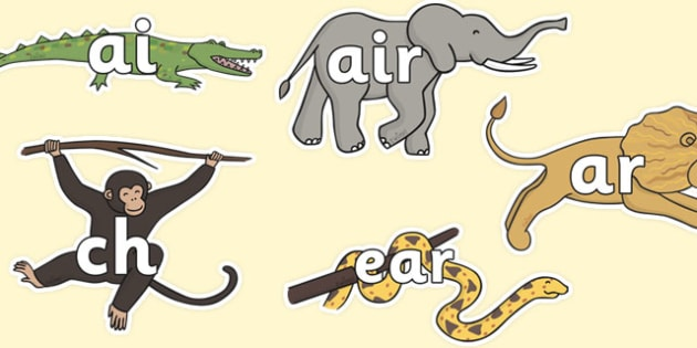 Phase 3 Phonemes on Jungle Animals - walking in the jungle, walking in the jungle phonemes, walking in the jungle literacy, jungle, sounds