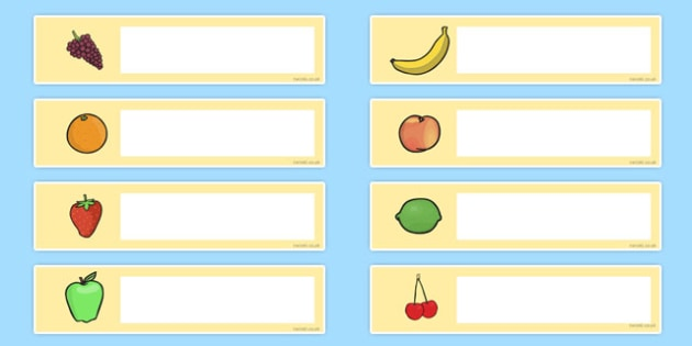 Fruit Themed Editable Gratnells Tray Labels - healthy eating