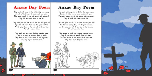 Anzac Day Ode of Remembrance Colouring In Poem - nz, new zealand, anzac day, ode of remembrance, colour