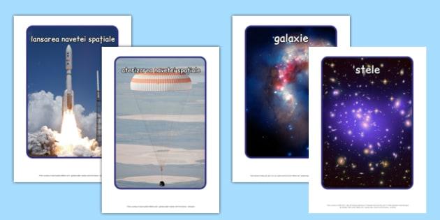 Spatiu, Fotografii A4 - vocabular spatiu, planete