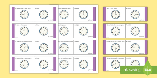 Time, Mixed Loop Cards - Requests - ROI, irish, Gaeilge, time, an t-am, am, clog, an chlog, clock,Irish